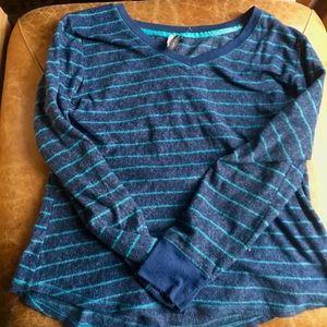 Luxurious Striped Pajama Top
